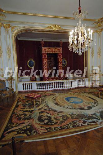 - Loire Schloss, Chateau de Chambord, Schlafzimmer von Ludwig XIV ...