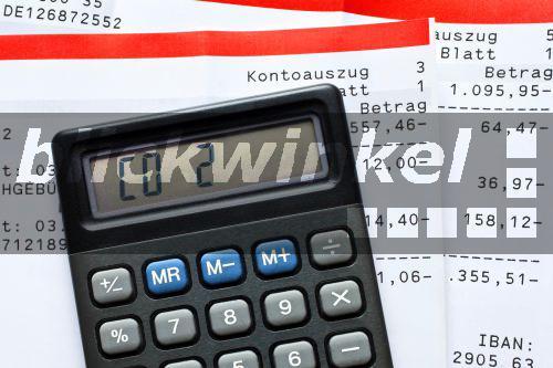Taschenrechner Schrift